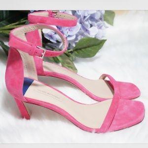 🆕Stuart Weitzman Square Nudist 75mm Sandals Pink